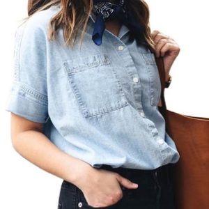 Madewell Blue Courier Shirt
